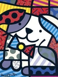 "49: Art Print by Romero Britto ""Ginger"""