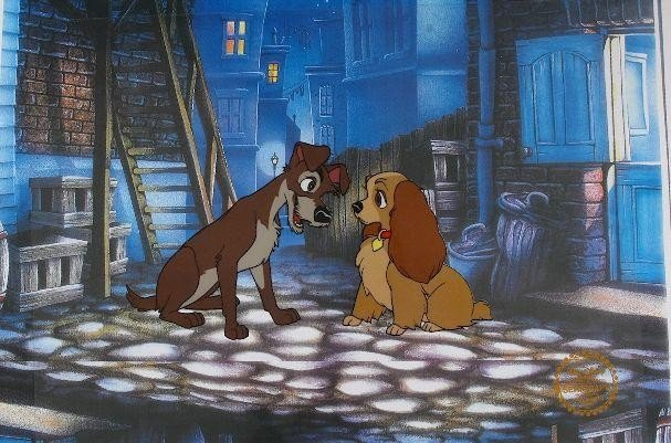 "62: Walt Disney ""Lady and the Tramp"" Serigraph Cel"