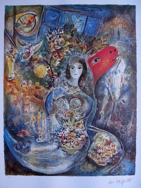75: Marc Chagall BELLA Limited Ed. Lithograph
