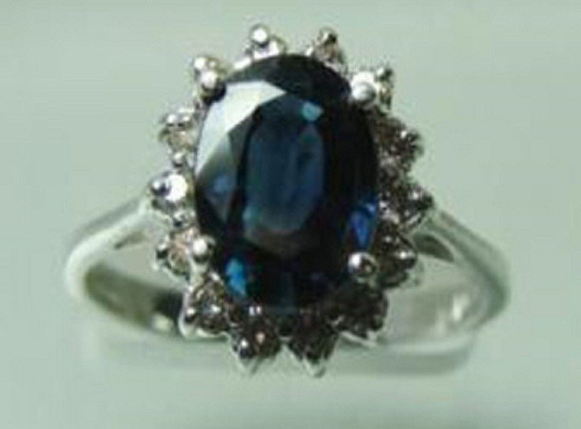 80: 2.45 CT Natural Sapphire Diamond Ring Appraised $4,