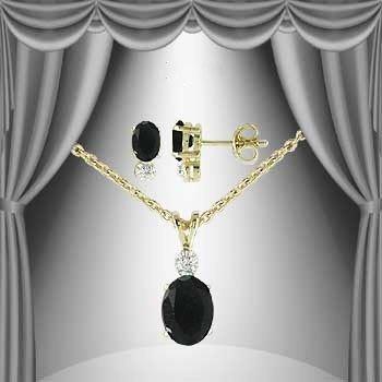89: 3.2 CT Sapphire Diamond Solitaire Suite