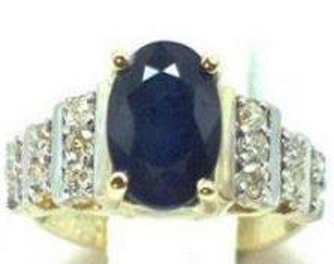 92: Diamond & Tanzanite Ring Appraised $8,700