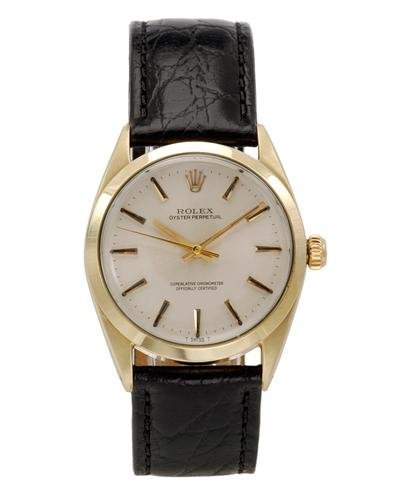 486: Rolex LUWB Oyster Perpetual Gold-Plated Stainless