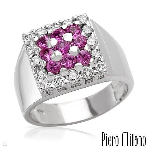 492: PIERO MILANO 1.80 CTW Sapphire 18K Gold $12,755