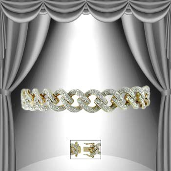 "8: ""Forever Chain of Love"" 1.25 CT Diamond Bracelet"