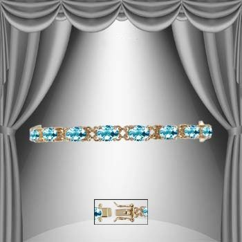 14: Genuine 14 CT Blue Topaz Bracelet