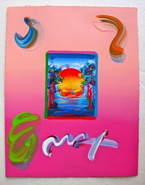 121: Peter Max BETTER WORLD Original Mixed Media