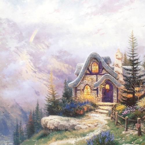 """127: Thomas Kinkade """"Sweetheart Cottage III"""""""