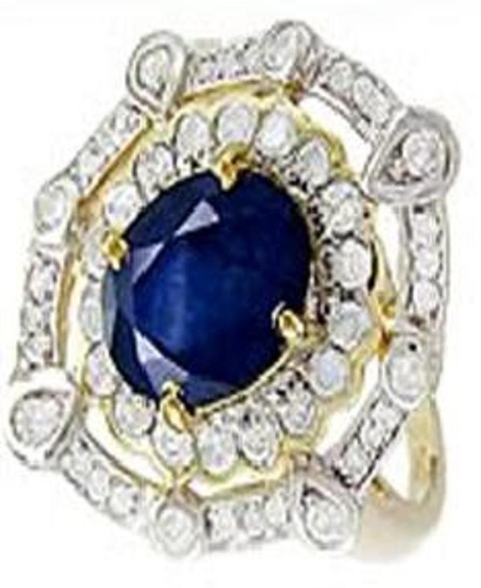128: 2.73 CT Sapphire Diamond Ring Appraised $17,100
