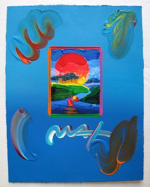 140: Peter Max WITHOUT BORDERS Original Mixed Media