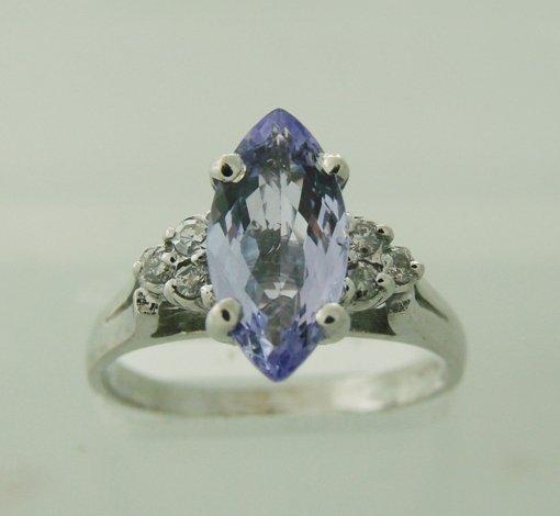 144: Diamond & Tanzanite Ring Appraised $6,150