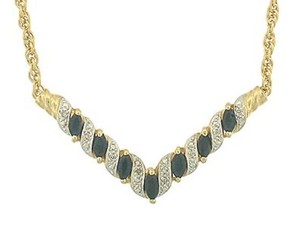 199: 7 CT Sapphire and Diamond Elegance Necklace
