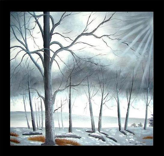 212: Modern Wall Art, Winter Frost
