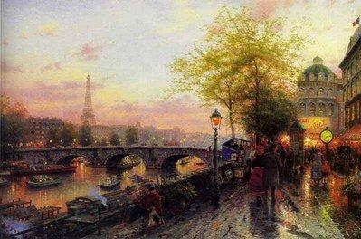 """214: Thomas Kinkade Paris """"Paris Eiffel Tower"""""""