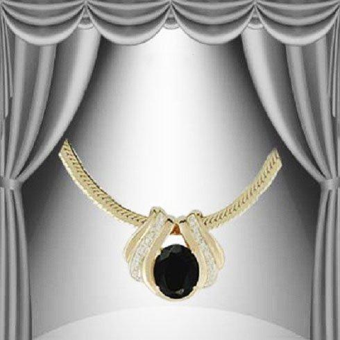 3: Genuine 7 CT Sapphire Diamond Pendant