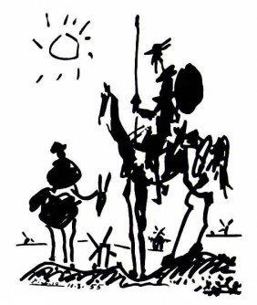 8: Picasso Lithograph Don Quixote