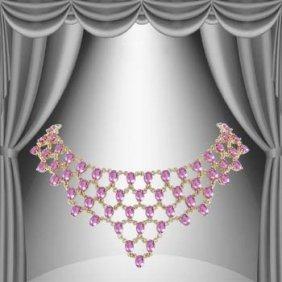 12: Genuine 59 CT Amethyst Elegance Necklace