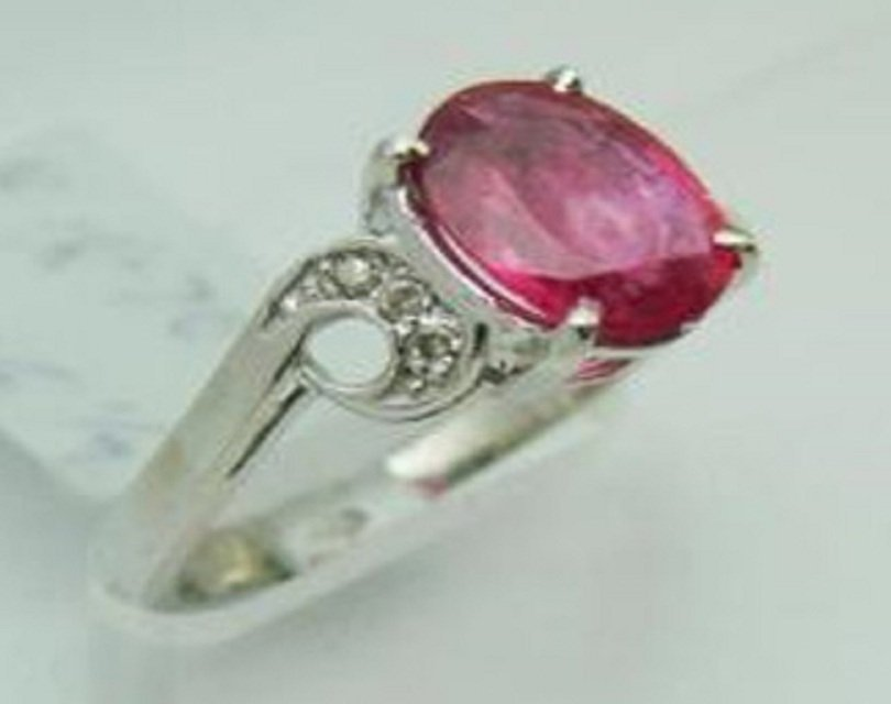 15: Natural Ruby and Diamond Ring Appraised $3,400 - 2