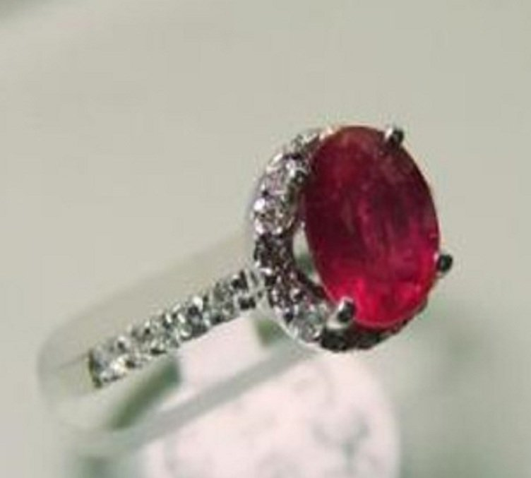 21: Natural Ruby and Diamond Ring Appraised $4,800 - 2