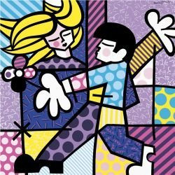 """24: Art Print by Romero Britto """"Love at First Sight"""""""