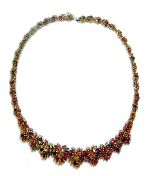 76: Multi-Colored Sapphire Necklace