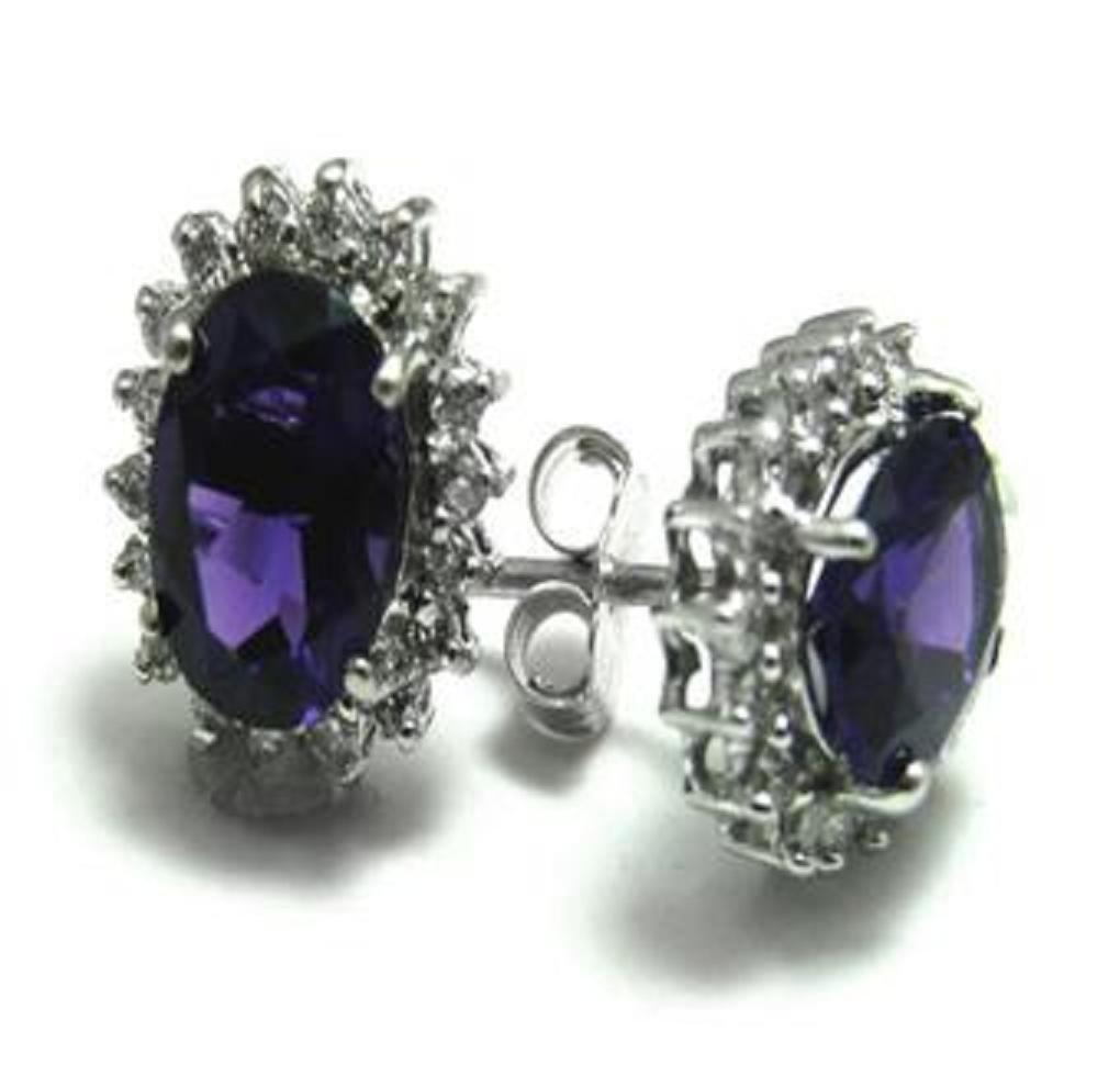 82: 2.25 CT Amethyst Diamond Earrings Appraised $2,880