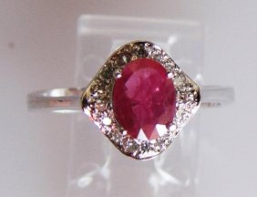 91: Natural Ruby and Diamond Ring Appraised $4,700
