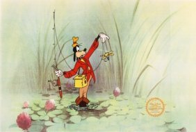 "Walt Disney ""How To Fish"" Serigraph Cel"