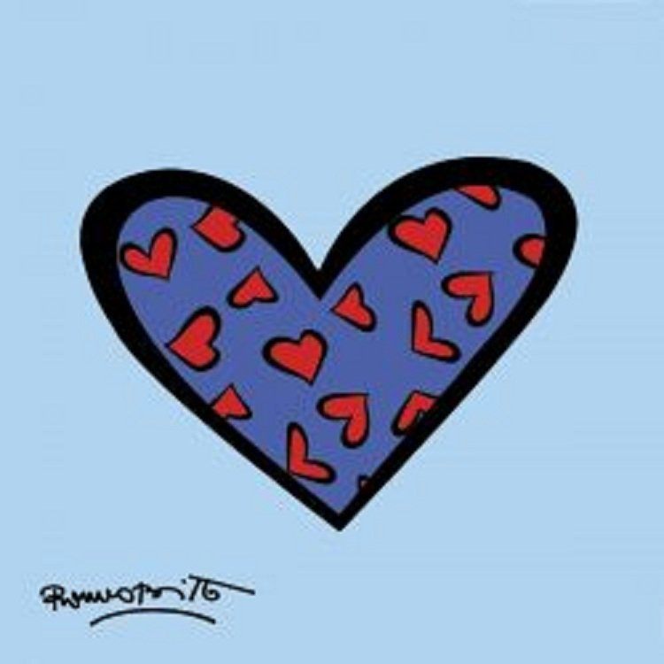 "152: Art Print by Romero Britto ""Blue About You"""