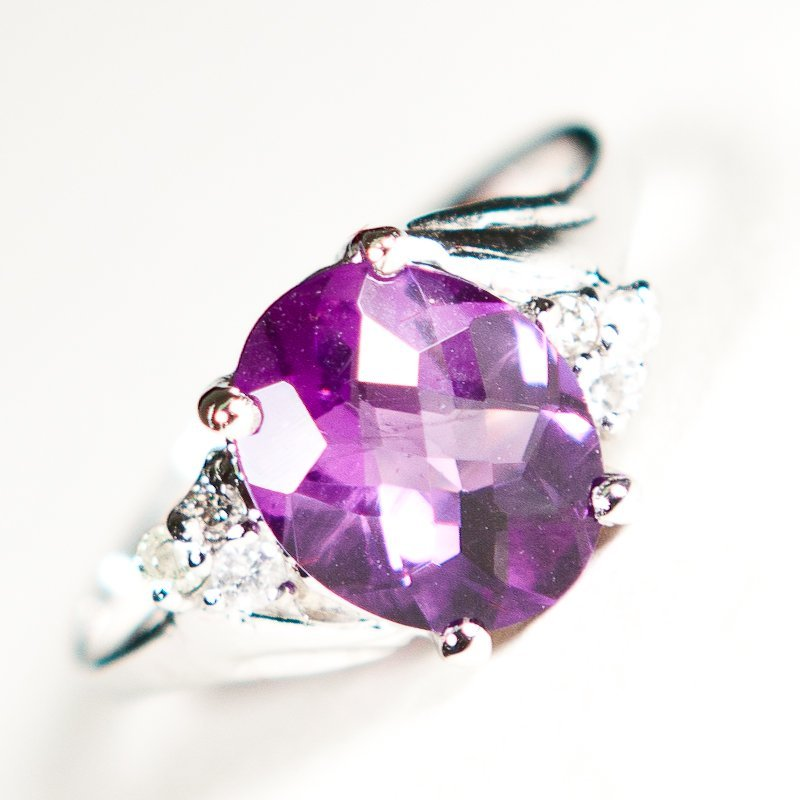 223: Amethyst and Diamond ring - Appraised at $7,850