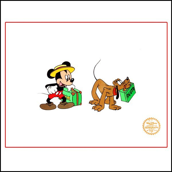 "3: DISNEY ""Mr. Mouse Takes a Trip"" Original Art Sericel"