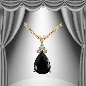 18: Genuine 6 CT Sapphire Diamond Pendant