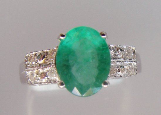 29: Emerald and Diamond Ring - Appraised at $11,725