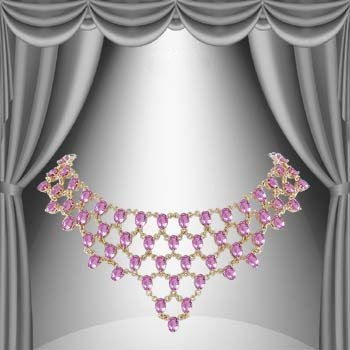 33: Genuine 59 CT Amethyst Elegance Necklace