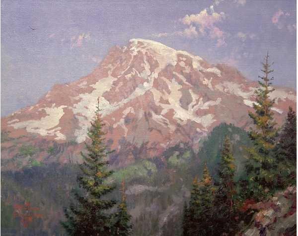 "34: Thomas Kinkade ""Mount Rainier"""