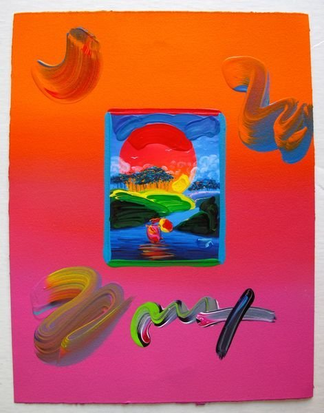 39: Peter Max WITHOUT BORDERS Original Mixed Media