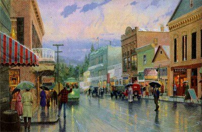 40: Thomas Kinkade Main Street Trolley