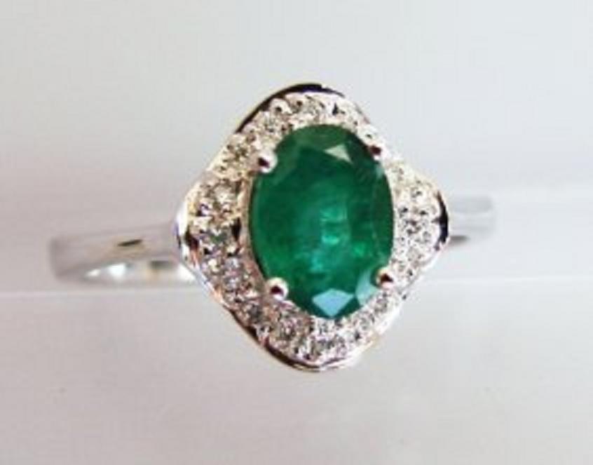 42: Columbia Emerald & Diamond Ring Appraised $7,700