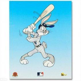 LOONEY TUNES Ltd Ed. Sericel, Bugs Bunny At Bat