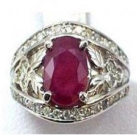 Ruby And Diamond Ring - Appraised At $9,200