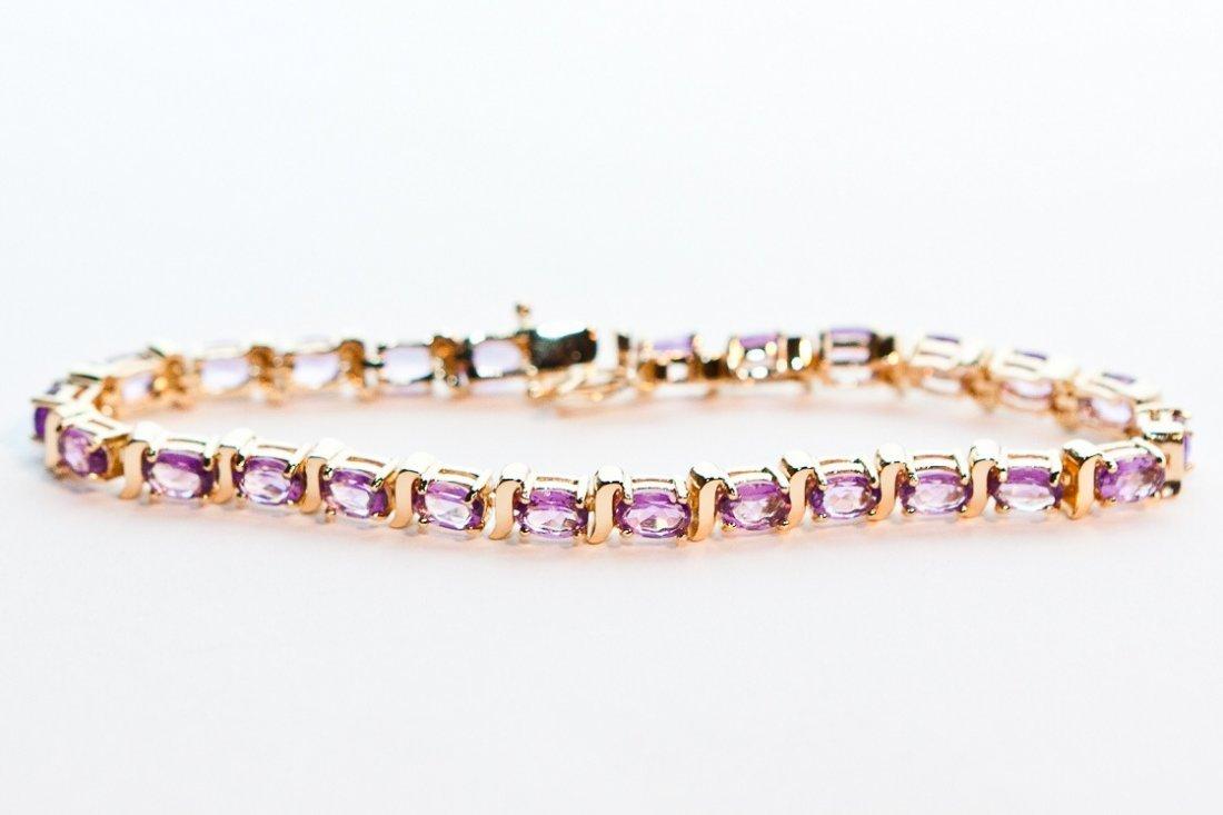 86: Elegance 16 CT Amethyst Tennis Bracelet