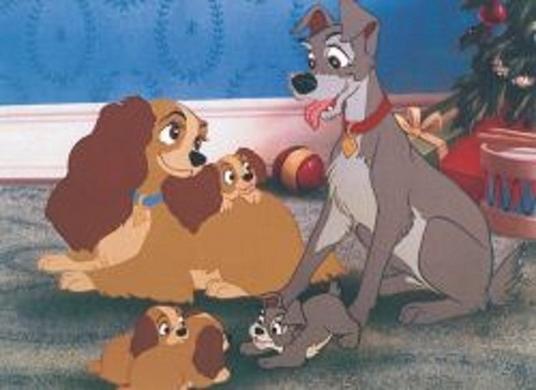 87: Disney High Quality Art Print - Happy Family, Happy