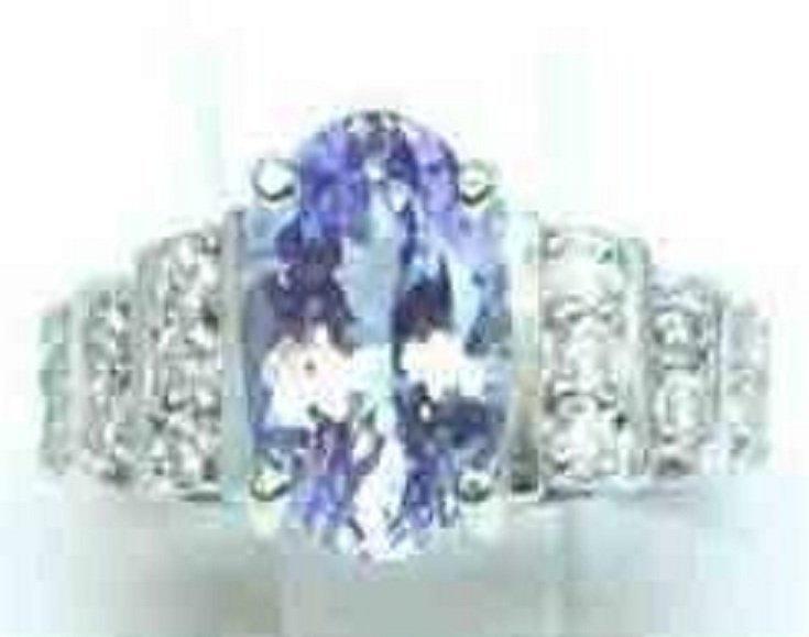 89: Diamond & Tanzanite Ring Appraised $8,700