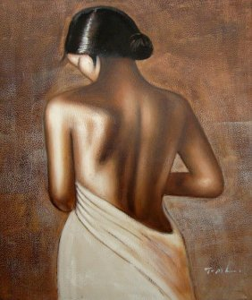 Oil Painting On Canvas Woman Beauty