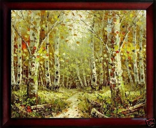 167: Framed Oil Painting on canvas - Forrest Path