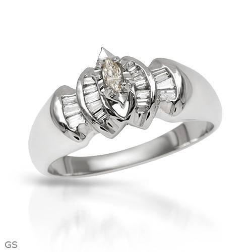 5:0.4 CTW SI1-SI2 G-H Diamonds 14K Gold Ring $8,875.00