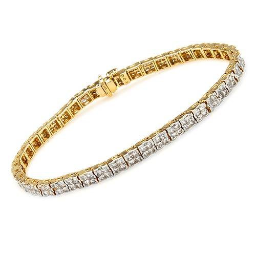 6:4 CTW SI1-SI2 Color Diamonds 14K Gold Bracelet $18050