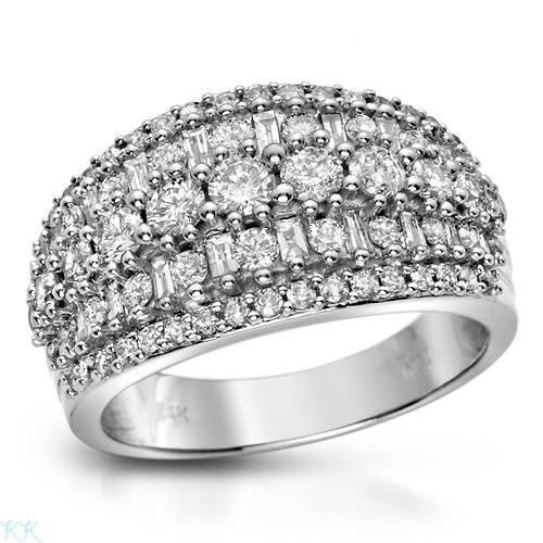 12: 1.5 CTW Diamonds 14K White Gold Ring $10,125.00