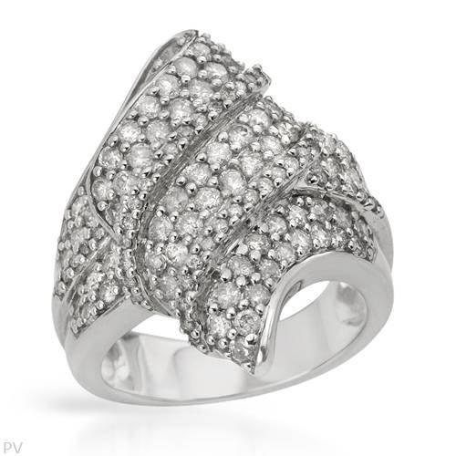 21: Amazing 2 CTW 14K White Gold Diamond Ring $14,575