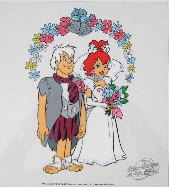 484: Flintstones PEBBLES AND BAM BAM'S WEDDING Sericel